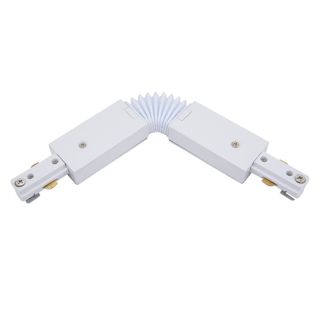 uxcell Track Connector 3-Wire Angle-free Flexible Rail Joiner Light Mounted Fitting