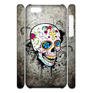 MMZ DIY PHONE CASEALICASE Diy 3D Protection Hard Case Skull For iphone 6 plus 5.5 inch [Pattern-1]