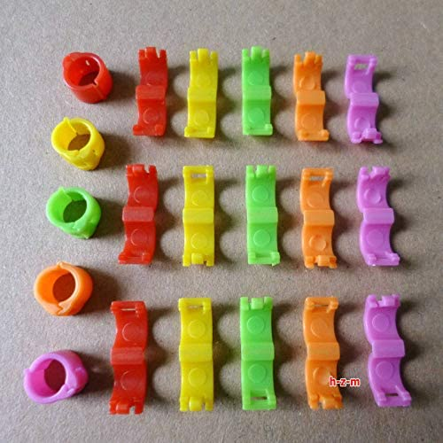 4mm 1-20 Numbered clip snap  Bird Ring Leg Bands Parrot Finch Canary Grouped