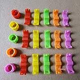 FidgetGear 4 mm 5 Colors Bird Ring Leg Bands Parrot Finch Canary Grouped