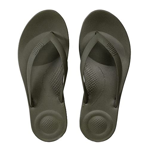 24ba7f109574a Fit Flop Men s Iqushion Ergonomic Flip Flops Camouflage Green -10 UK