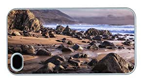 Hipster durable Diy For Iphone 5C Case Cover beach shore rocks PC White for Diy For Iphone 5C Case Cover