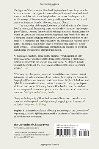 essay on the geography of plants alexander von humboldt aime  essay on the geography of plants alexander von humboldt aime bonpland stephen t jackson sylvie r owski 9780226054735 com books