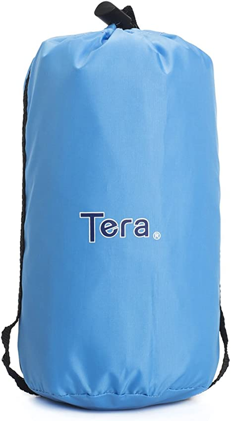 Tera One Piece Raincoat Cape Backpack Cover for Outdoor Hiking Travel Camping Blue