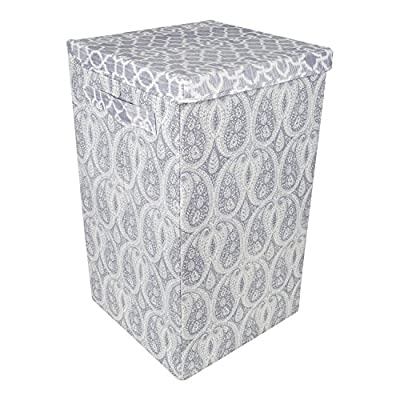 Everything Mary Luxury Laundry Basket by Dena Home | Clothes Hamper, Closet Storage, Laundry Bag, Collapsible Clothes Hamper | Versatile Portable Storage - INDUSTRY LEADING QUALITY AND DESIGN - This premium laundry hamper by Dena Designs and Everything Mary is the perfect addition to your bedroom or office. Our fully collapsible industry leading quality clothes bag lays flat, for easy storage inside any room of your home. The Everything Mary Collapsible Clothes Hamper features an elegant IKAT Quatrefoil / Paisley design, designed by award-winning artist and illustrator Dena Fishbein. AWARD WINNING DESIGN - This elegant IKAT Stripe / Dot design, designed by award-winning artist and illustrator Dena Fishbein. These laundry hampers look perfect in any bedroom. VERSATILE & EASY STORAGE - This clothes hamper is collapsible and lays flat. It features an easy-open lid that is attached to the hamper. There are two easy-carry handles on the hamper, making transportation to the washer / dryer quick and easy. Just touching this item will reveal the incredible hand-crafted quality by which it was made. - laundry-room, hampers-baskets, entryway-laundry-room - 51L01YhTaQL. SS400  -