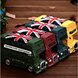 JCare Randomly Color British Style London Double-decker Bus Resin Money Boxes Vintage Retro Creative Vehicle Model Coin Piggy Bank Saving Pot Best Boys Girls Birthday Christmas Gift Home Decoration