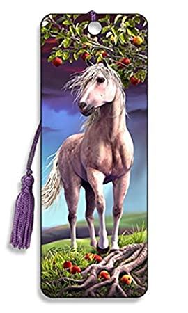 High Quality Great Party Bag Filler or End of Term Gifts for Pupils 3D Wild Horses Bookmark