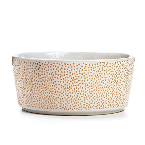 Waggo Gold Speck-tacular Polka Dot Dog Bowl Rose Gold Large