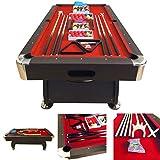 8' Feet Billiard Pool Table Snooker Full Set Accessories Game mod. Vintage Red 8