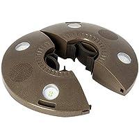 ION Audio Patio Mate - Luz de sombrilla resistente al agua con altavoces Bluetooth stereo y batería recargable