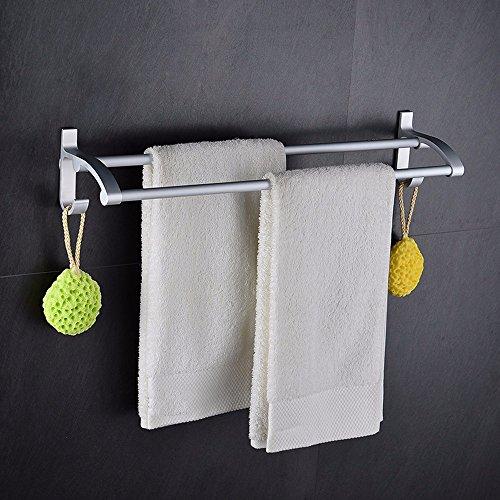 Aluminum Alloy 50cm Space Double Holder Towel Rails - 4