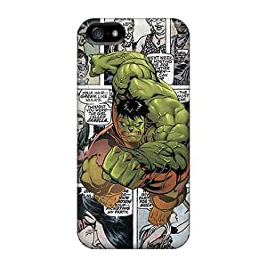 Shock Absorption Hard Phone Cases For Iphone 5/5s With Customized High Resolution Hulk Comics Image AaronBlanchette