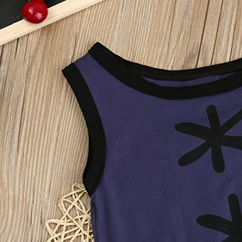 Sunbona Infant Baby Boys Stripped Printed Sleeveless Short Sleeve T-shirt Romper Jumpsuit Outfits