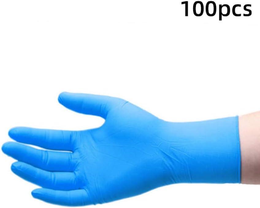Guantes desechables 100 unidades para mec/ánicos universales de l/átex de nitrilo de trabajo medium negro