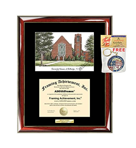University of Tennessee Chattanooga UTC Diploma Frame Lithograph Graduate Gift Graduation Degree Framing Plaque Certificate Holder Case University - Chattanooga Lithograph Tennessee