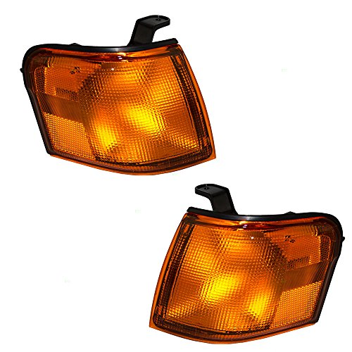Driver and Passenger Park Signal Corner Marker Lights Lamps Replacement for Toyota 8152016220 8151016220 AutoAndArt
