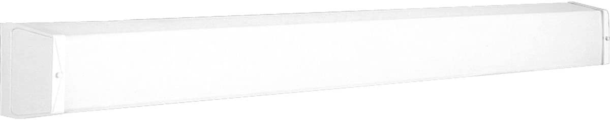 Progress Lighting P7132-30EB Traditional One Light Linear Fluorescent Bath Collection in White Finish, 48-3 8-Inch Width x 4-5 8-Inch Height