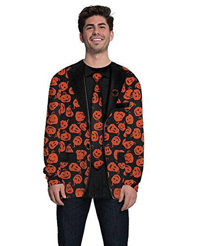 Faux Real Men's SNL-David Pumpkin Suit Tee Shirt, Multi, Small -