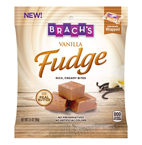 Brach's Artisinal Fudge, Vanilla, 3.5 Ounce Bag, Pack of 12