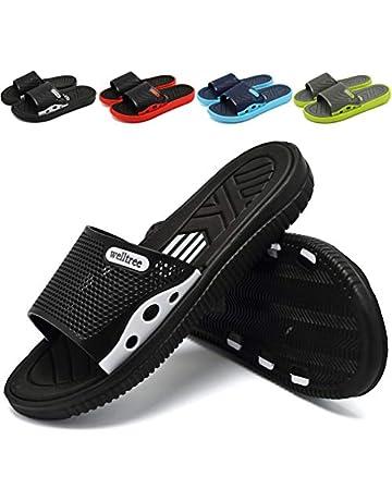 d8fc76b27e8c90 welltree Men's Slide Slipper Shower/Pool/Beach/Garden Quick Drying Sandal