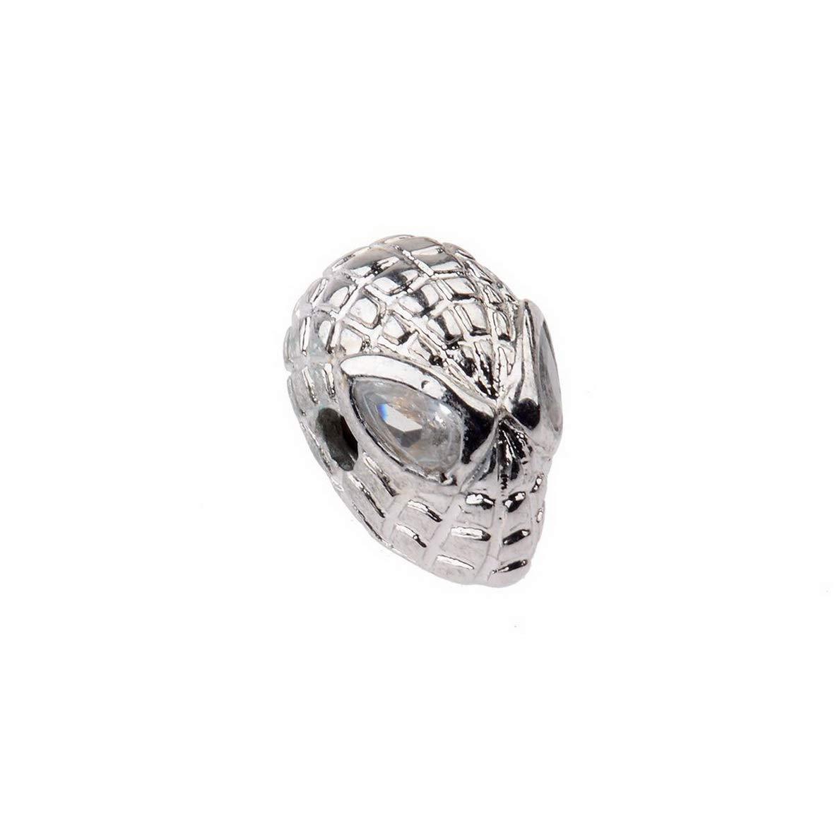 Gatton Zircon Gemstones Spiderman Bracelet Connector Charm Beads Silver Gold Rose 42779 Model BRCLT