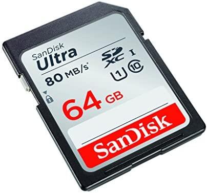 SanDisk Ultra Tarjeta de memoria SDXC de 64 GB (hasta 80 MB/s, Clase 10)