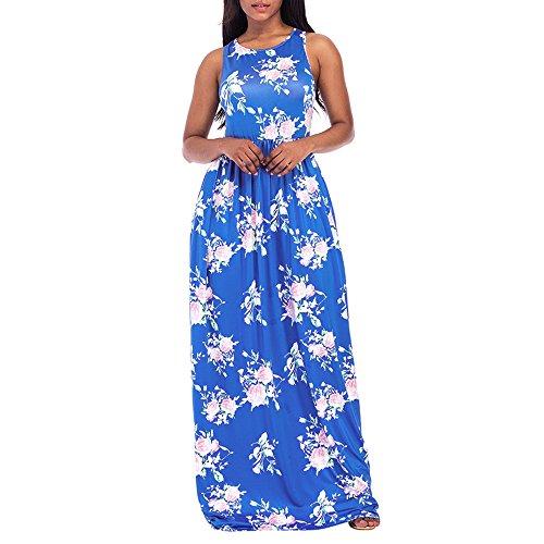 Damen Kleid BBring Frauen Casual Sommerkleider Vintage Boho ...
