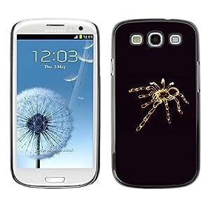 Design for Girls Plastic Cover Case FOR Samsung Galaxy S3 Tarantula Minimalistic Black OBBA