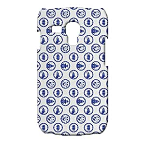 Blue Background Shading Printed Phone Case Snap on Samsung Galaxy S3 Mini,Exquisite Modish Durable 3D Hard Plastic Cover fit Samsung Galaxy S3 Mini