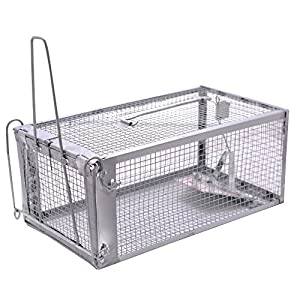Live Animal Humane Trap 2-Door Mouse Cage Trap for Chipmunk, Rats, Squirrels, Voles, Rodent and Similar Size Pests(Green…