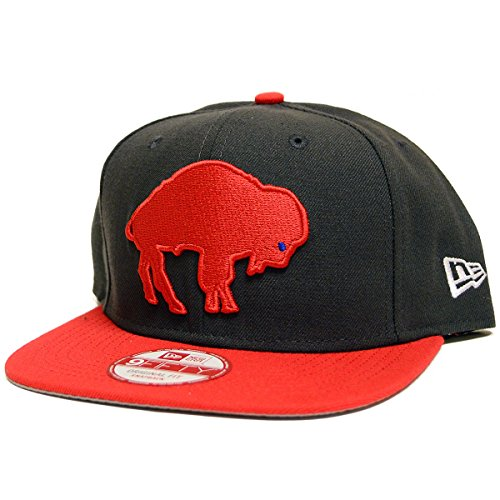 Mens New Era Team Custom Snapback Hats (One Size Fits Most, Buffalo Bills Retro ()