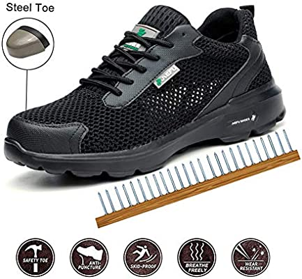 TBDLG Trainers Safety Shoes, Steel Toe