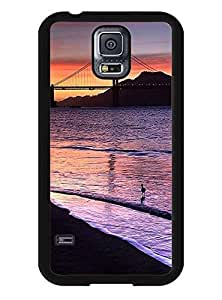 Protective Cover Case for Samsung Galaxy S5 I9600 - Lovely Golden Gate Bridge Print