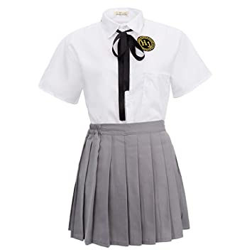 IPOTCH Uniforme Escolar Japonés Camiseta de Manga Corta con Falda ...