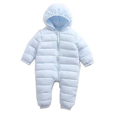 4fa37926a Beide Baby Boys Girls Winter Hooded Snowsuit Zipper Puffer Jacket Pram Suit  (light blue,
