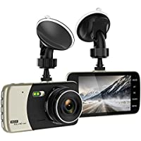 Dash Cam, Merdumia 4.0 Dash Camera for Cars with Full HD 1080P Front , 170 Degree Super Wide Angle Cameras, 4.0 IPS Display, G-Sensor, Night Vision, WDR, Loop Recording