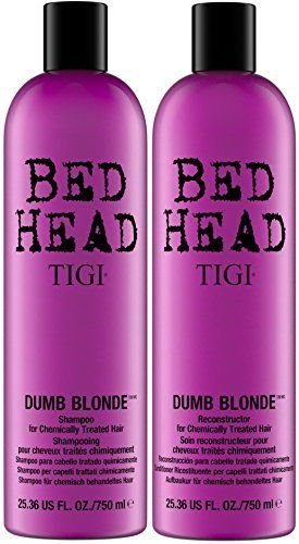 Bed Shampoo - TIGI Bed Head Dumb Blonde Shampoo and Reconstructor Conditioner Duo - 25.36oz each