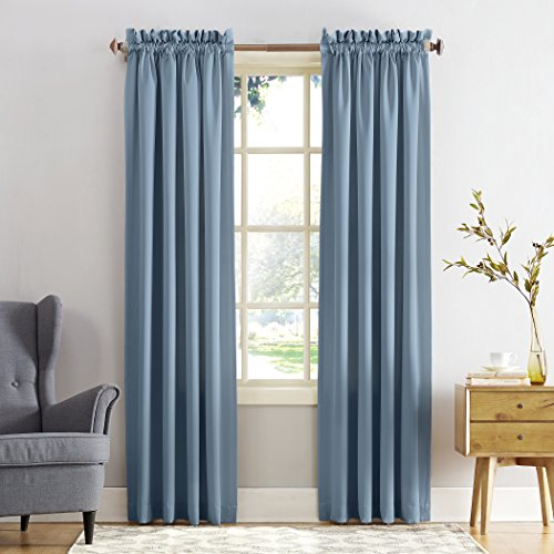 Sun Zero Barrow Energy Efficient Rod Pocket Curtain Panel, 54