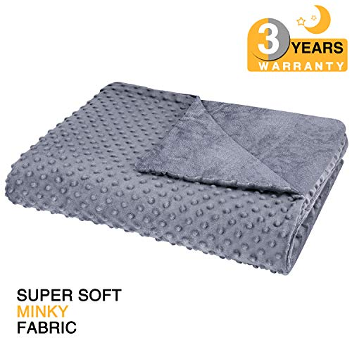 Cheap bedextra Removable Duvet Cover for Weighted Blanket - Super Soft Minky Fabric | 8 Ties | | No Shifting | 60 x 80 | Queen Size | for Adults Women Men Children | 3-Year Warranty - Gray Black Friday & Cyber Monday 2019