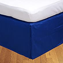 Relaxare Queen 300TC 100% Egyptian Cotton Royal Blue Solid 1PCs Box Pleated Bedskirt Solid (Drop Length: 12 inches) - Ultra Soft Breathable Premium Fabric