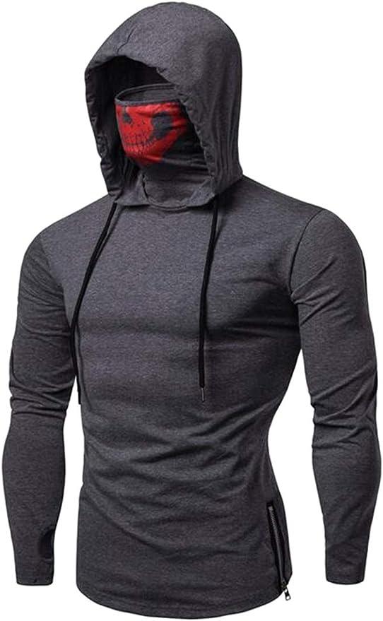 ARTFFEL Men Classic 3D Print Drawstring Pockets Hoodie Pullover Sweatshirt