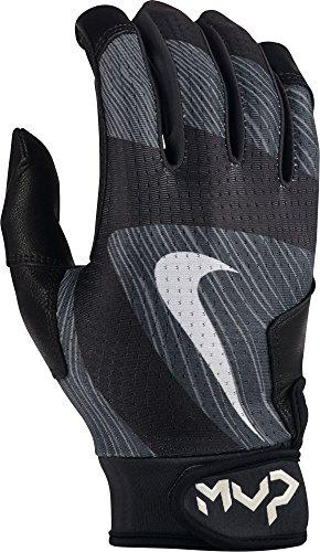 Baseball Wristbands Nike (Men's Nike MVP Edge Baseball Batting Glove Black/White Size X-Large)