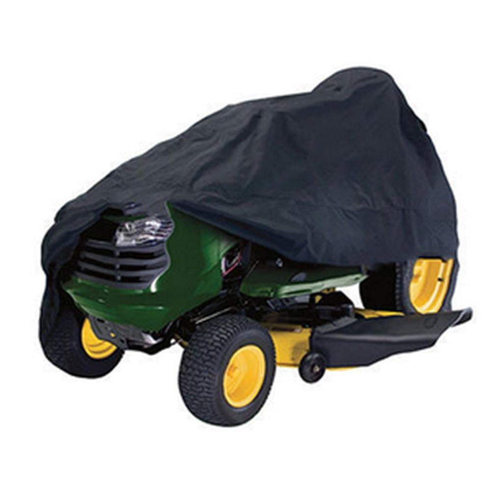 Pawaca Weatherproof Riding Lawn Mover Tractor Cover, Up to 54 Decks (Black) Up to 54 Decks (Black)