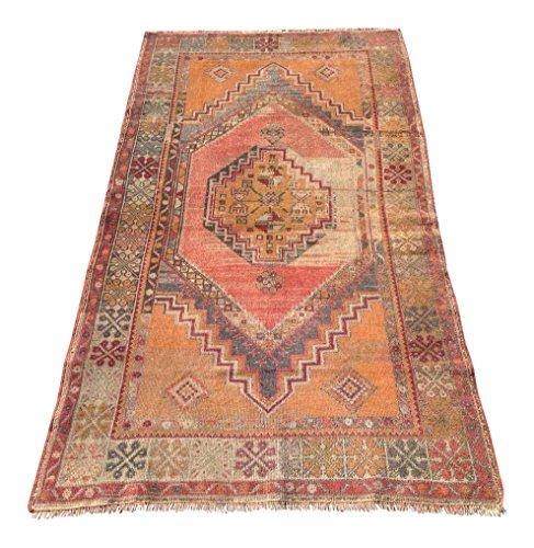 Vintage Anatolian Area Rug - 3′9″ × 6′9″