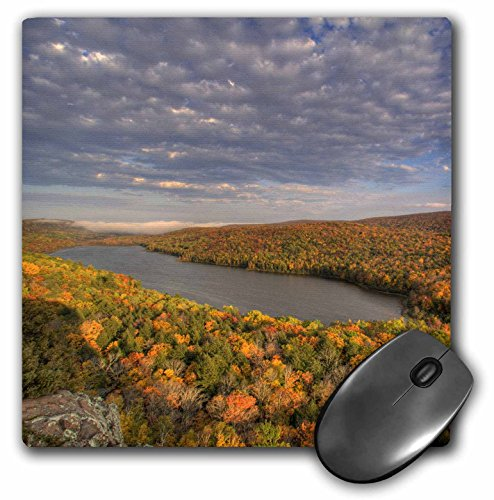 3dRose LLC 8 x 8 x 0.25 Inches Lake of The Clouds Porcupine Mountains Michigan Chuck Haney Mouse Pad (mp_91148_1)