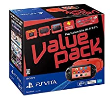 Black Sony Computer PlayStation Vita Value Pack Wi-Fi model Red / Black