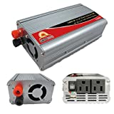 SUNGOLDPOWER 1500W 12V DC to 110V AC Car Power Inverter Converter Car Cigarette Lighter Modified Sine Wave With USB Port Battery Cables And Clips Built-In Fan (1500W)