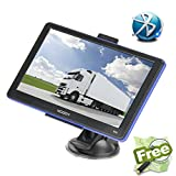 Xgody 886 Portable Vehicle Truck GPS Navigation for Car 7'' Capacitive Touchscreen NAV System Navigator with Sun Shade Support Bluetooth Lifetime USA/Canada Maps Updates