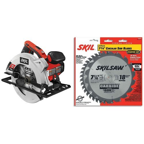 SKIL 5280-01 15-Amp 7-1/4-Inch Circular Saw with 7-1/4-Inch Saw Blade Combo Pack
