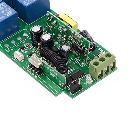 Lejin AC85v ~ 250V 110V 230V 4CH 4 Channel Radio Remote Control Wireless Remote Control Switch 220V Relay Output Radio RF Transmitter Radio System 433Mhz Receiver by Lejin (Image #2)